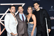 "(L-R) Luis Gerardo Mendez, Jonathan Tucker, Elizabeth Banks, and Noah Centineo attend the premiere of Columbia Pictures' ""Charlies Angels"" at Westwood Regency Theater on November 11, 2019 in Los Angeles, California."