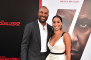 """Derek Fisher and Gloria Govan attend the premiere of Columbia Pictures' """"Equalizer 2"""" at the TCL Chinese Theatre on July 17, 2018 in Hollywood, California."""