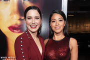 Actresses Sophia Bush (L) and Gina Rodriguez attend the premiere of Columbia Pictures' 'Miss Bala' at Regal LA Live Stadium 14 on January 30, 2019 in Los Angeles, California.