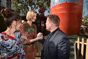 "Actors Rose Byrne, Elizabeth Debicki and James Corden attend the pre-party for the premiere of Columbia Pictures' ""Peter Rabbit"" at The Grove on February 3, 2018 in Los Angeles, California."