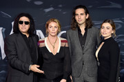 (L-R) Gene Simmons, Shannon Tweed, Nick Simmons, and Sophie Simmons attend the premiere of Columbia Pictures' 'Venom' at Regency Village Theatre on October 1, 2018 in Westwood, California.