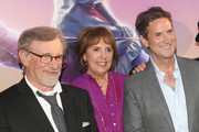 """(L-R) Director Steven Spielberg, actress Penelope Wilton and CEO, Amblin Partners, Michael Wright arrive on the red carpet for the US premiere of Disney's """"The BFG,"""" directed and produced by Steven Spielberg. A giant sized crowd lined the streets of Hollywood Boulevard to see stars arrive at the El Capitan Theatre. """"The BFG"""" opens in U.S. theaters on July 1, 2016, the year that marks the 100th anniversary of Dahl's birth, at the El Capitan Theatre on June 21, 2016 in Hollywood, California."""