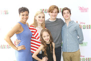 """(L-R) Carly Hughes, Meg Donnelly, Julia Butters, Logan Pepper and Daniel DiMaggio attend the Los Angeles premiere for Disney Channel's """"Zombies"""" held at Walt Disney Studio Lot on February 3, 2018 in Burbank, California."""