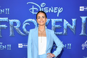 "Jordana Brewster attends the premiere of Disney's ""Frozen 2"" at Dolby Theatre on November 07, 2019 in Hollywood, California."