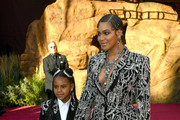 """(L-R) Blue Ivy Carter and Beyoncé attends the premiere of Disney's """"The Lion King"""" at Dolby Theatre on July 09, 2019 in Hollywood, California."""