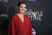 "Ellen Pompeo attends the premiere of Disney's ""A Wrinkle In Time"" at the El Capitan Theatre on February 26, 2018 in Los Angeles, California."