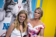 """Actress Cheryl Hines (R) and daughter Catherine Rose Young attend the premiere of """"Nine Lives"""" in Hollywood, California, on August 1, 2016. / AFP / VALERIE MACON"""