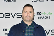 """Nick Offerman attends the premiere of FX's """"Devs""""  at ArcLight Cinemas on March 02, 2020 in Hollywood, California."""