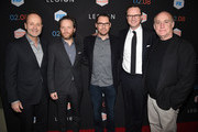 "(L-R) John Landgraf, President of FX Networks, executive producer/creator/writer Noah Hawley, executive producer Bryan Singer, Peter Rice, Fox Networks Chairman and CEO and executive producer/Head of Marvel TV Jeph Loeb, arrive at the premiere of FX's ""Legion"" at the Pacific Design Center on January 26, 2017 in West Hollywood, California."