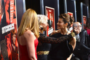 "(L-R) Actress Toni Collette, Dame Helen Mirren and actress Jessica Biel arrive at the Premiere Of Fox Searchlight Pictures' ""Hitchcock"" at AMPAS Samuel Goldwyn Theater on November 20, 2012 in Beverly Hills, California."