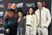 "(L-R) Peter Paige, actors Cierra Ramirez, Maia Mitchell and Josh Pence attends the Premiere Of Freeform's ""The Thing About Harry"" at The London West Hollywood on February 12, 2020 in West Hollywood, California."