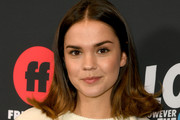 "Maia Mitchell arrives at the premiere of Freeform's ""The Thing About Harry"" at The London West Hollywood on February 12, 2020 in West Hollywood, California."