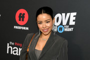 """Cierra Ramirez arrives at the premiere of Freeform's """"The Thing About Harry"""" at The London West Hollywood on February 12, 2020 in West Hollywood, California."""