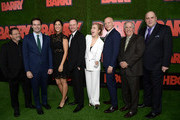 "(L-R) Stephen Root, Bill Hader, D'Arcy Carden, Alec Berg, Sarah Goldberg, Anthony Carrigan, Henry Winkler and Glenn Fleshler attend the premiere of HBO's ""Barry"" at NeueHouse Hollywood on March 21, 2018 in Los Angeles, California."