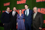 "Casey Bloys, Alec Berg, Amy Gravitt, Bill Hader, and Henry Winkler attend the premiere of HBO's ""Barry"" at NeueHouse Hollywood on March 21, 2018 in Los Angeles, California."