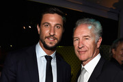 """Actors Pablo Schreiber and Geoff Pierson attend the Premiere Of HBO's """"The Brink"""" After Party at Paramount Studios on June 8, 2015 in Hollywood, California."""