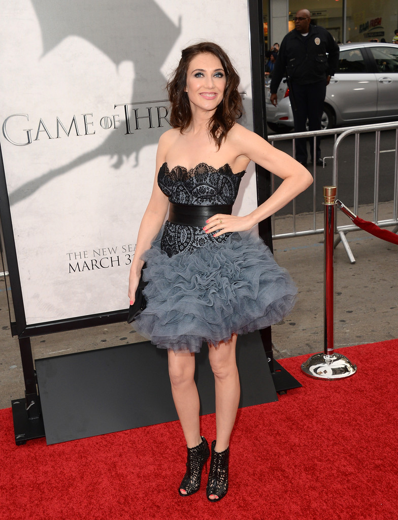 Carice Van Houten In Arrivals At The Game Of Thrones