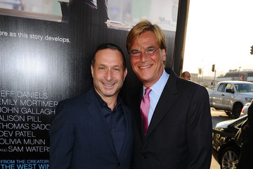 """Aaron Sorkin Alan Poul Premiere Of HBO's """"The Newsroom"""" - Red Carpet"""