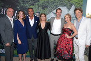 (L-R) Executive Producer/Director Jean-Marc Vallee, Executive Producer/Author Gillian Flynn, HBO Chairman and CEO Richard Plepler, Amy Adams, President of HBO Programming Casey Bloys, Executive Producer/Creator Marti Noxon, and Executive Producer Jason Blum attend the premiere of HBO's 'Sharp Objects' at The Cinerama Dome on June 26, 2018 in Los Angeles, California.