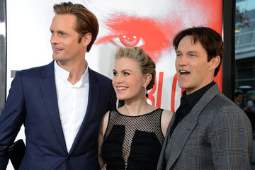"Anna Paquin Alexander Skarsgard Premiere Of HBO's ""True Blood"" 5th Season - Arrivals"