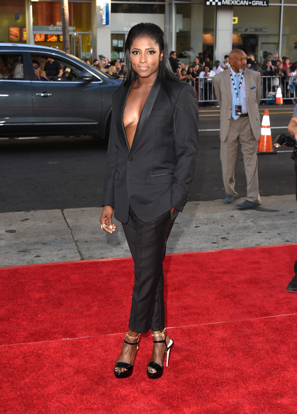 "Actress Rutina Wesley attends the premiere of HBO's ""True Blood"" season 7 and final season at TCL Chinese Theatre on June 17, 2014 in Hollywood, California."