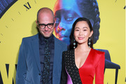 "(L-R) Damon Lindelof and Hong Chau attend the premiere of HBO's ""Watchmen"" at The Cinerama Dome on October 14, 2019 in Los Angeles, California."
