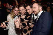Actors Emma Greenwell, Mcihelle Monaghan, Hugh Dancy and Aaron Paul attend the after party for the premiere of Hulu's 'The Path'  at ArcLight Hollywood on March 21, 2016 in Hollywood, California.