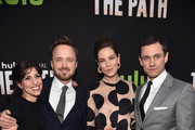 Creator/executive producer Jessica Goldberg, actors Aaron Paul, Michelle Monaghan and Hugh Dancy attend the premiere of Hulu's 'The Path' at ArcLight Hollywood on March 21, 2016 in Hollywood, California.