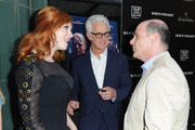 Actress Christina Hendricks, director John Slattery and producer/director Matt Wiener arrive at the premiere of  IFC Films 'God's Pocket' at LACMA on May 1, 2014 in Los Angeles, California.