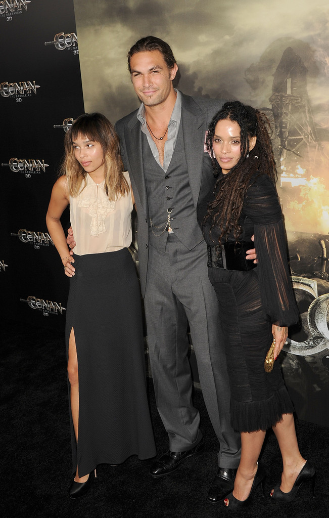 Zoe Kravitz Lisa Bonet Jason Momoa Lisa Bonet And Jason