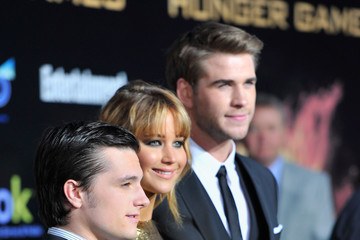 "Josh Hutcherson Liam Hemsworth Premiere Of Lionsgate's ""The Hunger Games"" - Arrivals"