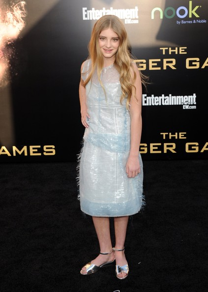 "Actress Willow Shields arrives at the premiere of Lionsgate's ""The Hunger Games"" at Nokia Theatre L.A. Live on March 12, 2012 in Los Angeles, California."