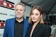 "Vincent D'Onofrio (L) and Leila George attend the premiere of Lionsgate's ""The Kid""  at ArcLight Hollywood on March 06, 2019 in Hollywood, California."