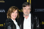 """Mark Hamill and Marilou York attend the premiere of Lionsgates' """"Knives Out"""" at Regency Village Theatre on November 14, 2019 in Westwood, California."""