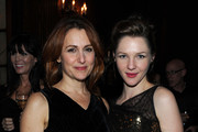 """Director Jodie Markell and actress Jessica Collins attend the after party for """"The Loss of a Teardrop Diamond"""" hosted by Gotham Magazine and Paladin at at The Oak Room on December 10, 2009 in New York City."""