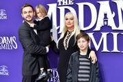 (L-R) Matthew Rutler, Summer Rain Rutler, Christina Aguilera, and Max Bratman attend the Premiere of MGM's 'The Addams Family' at Westfield Century City AMC on October 06, 2019 in Los Angeles, California.