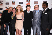 """(L-r) Actors Chevy Chase, Clark Duke, Collette Wolfe, Crispin Glover, Rob Corddry, Craig Robinson pose at the premiere of MGM & United Artisits' """"Hot Tub Time Machine"""" After Party at the Cabana Club on March 17, 2010 in Hollywood, California."""