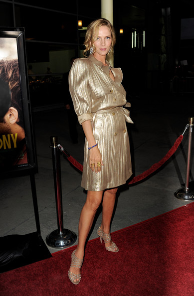 "Actress Uma Thurman arrives at the premiere of Magnolia Picture's ""Ceremony"" at the Arclight Theater on March 22, 2011 in Los Angeles, California."