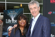 Chaz Ebert (L) and director Steve James attend the Premiere of Magnolia Pictures' 'Life Itself' at the ArcLight Hollywood on June 26, 2014 in Hollywood, California.
