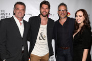 "Bruce Thomas, Nick Bateman, Jordan Murphy and Andrea Bowen attend the Premiere Of MarVista Entertainment's ""Wedding Wonderland"" on November 12, 2017 in Los Angeles, California."