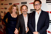 """Producer Heidi Jo Markel, director Kevin Pollak and producer Raphael Kryszek arrive at the premiere of Momentum Pictures' """"The Late Bloomer"""" at the iPic Theaters on October 3, 2016 in Los Angeles, California."""