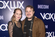 """Mona Lerche (L) and Brady Corbet attends the premiere of Neon's """"Vox Lux"""" at ArcLight Hollywood on December 05, 2018 in Hollywood, California."""
