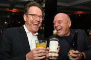 """Bryan Cranston (L) and Dean Norris attend the Premiere of Netflix's """"El Camino: A Breaking Bad Movie"""" After Party at Baltaire on October 07, 2019 in Los Angeles, California."""