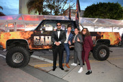 """(L-R) Director Kyle Newacheck, Anders Holm, Adam DeVine, and Blake Anderson attend the premiere of the Netflix film """"Game Over, Man!"""" at the Regency Village Westwood in Los Angeles at Regency Village Theatre on March 21, 2018 in Westwood, California."""