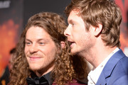 """(L - R) Blake Anderson and Anders Holm attend the premiere of Netflix's """"Game Over, Man!"""" at Regency Village Theatre on March 21, 2018 in Westwood, California."""