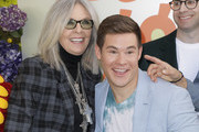"""(L-R) Diane Keaton and Adam DeVine attend the premiere of Netflix's """"Green Eggs And Ham"""" at Hollywood American Legion on November 03, 2019 in Los Angeles, California."""