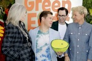 """(L-R) Diane Keaton, Adam DeVine, Jared Stern, and Ellen DeGeneres attend the premiere of Netflix's """"Green Eggs And Ham"""" at Hollywood American Legion on November 03, 2019 in Los Angeles, California."""
