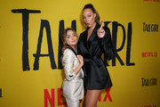 Actresses Sabrina Carpenter (L) and Ava Michelle attend the premiere of Netflix's 'Tall Girl' at Netflix Home Theater on September 09, 2019 in Los Angeles, California.