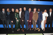 """(L-R) Jason Bateman, Jeffrey Wright, Michael C. Hall, Sharon Horgan, John Francis Daley, Jonathan Goldstein, Jesse Plemons, Kylie Bunbury, Lamorne Morris, Billy Magnussen, Jesse Plemons, Lamorne Morris, Kylie Bunbury and Kyle Chandler attend the premiere of New Line Cinema and Warner Bros. Pictures' """"Game Night"""" at TCL Chinese Theatre on February 21, 2018 in Hollywood, California."""