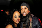 """Actress Essence Atkins (L) and actor Affion Crockett pose at the after party for the premiere of Open Road Films' """"A Haunted House"""" at Lure on January 3, 2013 in Los Angeles, California."""